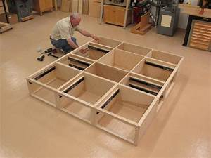 king platform bed with storage plans Quick Woodworking
