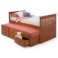 trundle beds with storage woodcrest pine ridge mission bed with trundle 17585