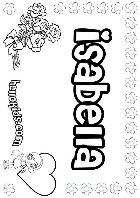 isabella coloring page colouring pages pinterest