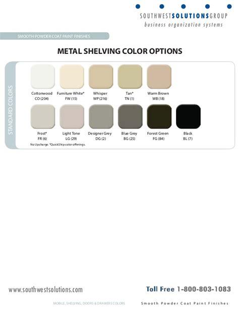 spacesaver metal shelving color selector
