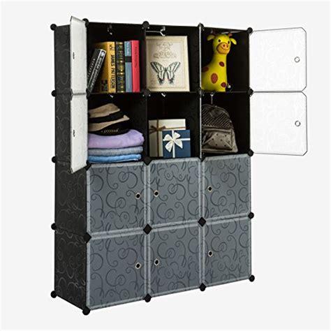 Unicoo Multi Use Diy Plastic 12 Cube Organizer Bookcase