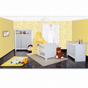 Babyzimmer Weiß Grau : babyzimmer felix in weiss grau mit 3 t rigem kl 19 tlg sleeping bear gelb baby m bel ~ Sanjose-hotels-ca.com Haus und Dekorationen