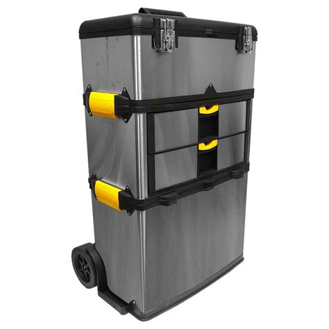 large tool chest stalwart 25 in 4 drawer and mobile tool box 75 3670