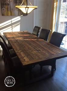 table de cuisine en bois sur mesure idee de modele de With modele de table de cuisine en bois