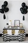 Table Decorations Black And White Theme Kate Spade Black And White Striped Dessert