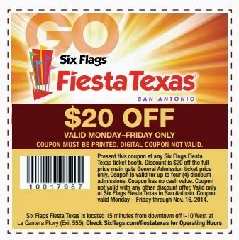 19928 Six Flags Tickets Coupons Discounts by What To Do In San Antonio Coupons 2014 Save