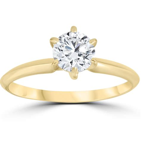 14k yellow gold 3 4ct solitaire diamond engagement ring jewelry brilliant ebay
