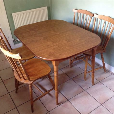 extendable wooden kitchen table   chairs  sale