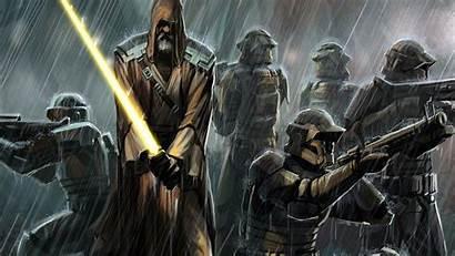 Wars Republic Star Swtor Wallpapers Jedi Battle