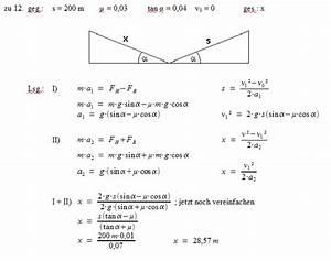 Steigung Berechnen Formel : patrick 39 s physikseite physikaufgaben mit l sungen physik ~ Themetempest.com Abrechnung