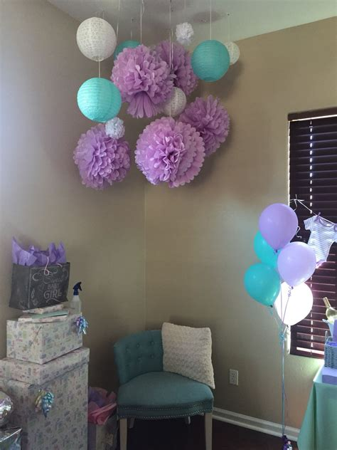 mint  lavender baby shower theme baby shower purple