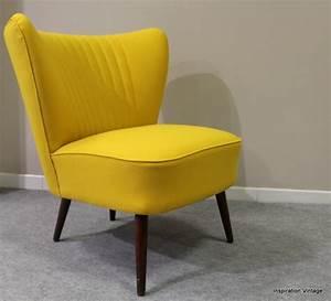 Fauteuil Vintage Pas Cher : fauteuil jaune pas cher ~ Teatrodelosmanantiales.com Idées de Décoration