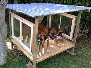 shade or shelter for outdoor dog run made with salvaged With outside dog shelter