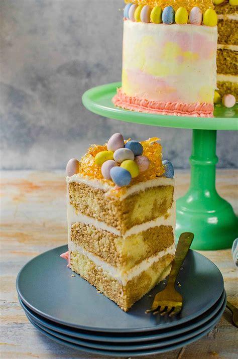 chai  vanilla cake  vanilla buttercream pastel