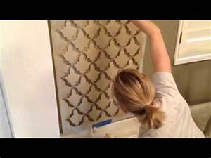 A Quick and Easy Wall Stencil Tutorial - YouTube