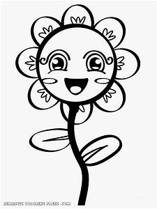 simple flower kindergarten kids coloring pages realistic With simpleelectricalcom