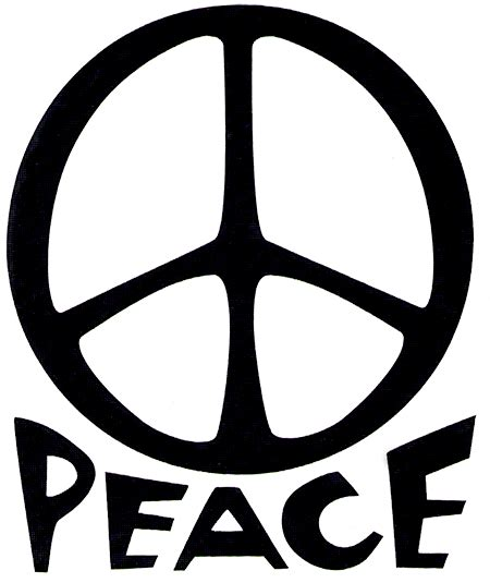 Peace Sign with Words
