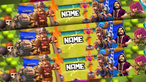 Banner Template De Clash Royale by Clash Royale Banner Template Banner Editable Free