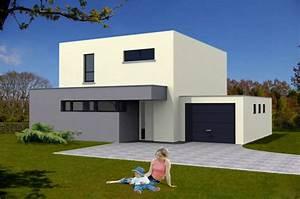exemple photo de maison neuve moderne toit plat With exemple de maison neuve