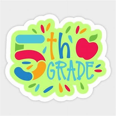 Grade 5th Fifth Sticker Ms Teepublic Private