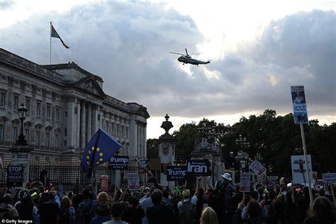 hundreds  thousands  anti trump protesters gather