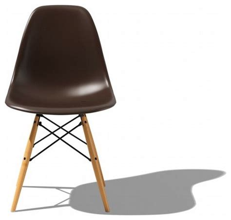 eames molded plastic dowel leg side chair dsw midcentury
