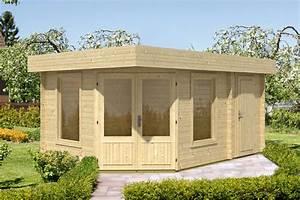 Haus Bausatz Holz : gartenhaus flachdach 453x299 holzhaus bausatz 2 raum haus f nf eck holz haus vom garten ~ Whattoseeinmadrid.com Haus und Dekorationen