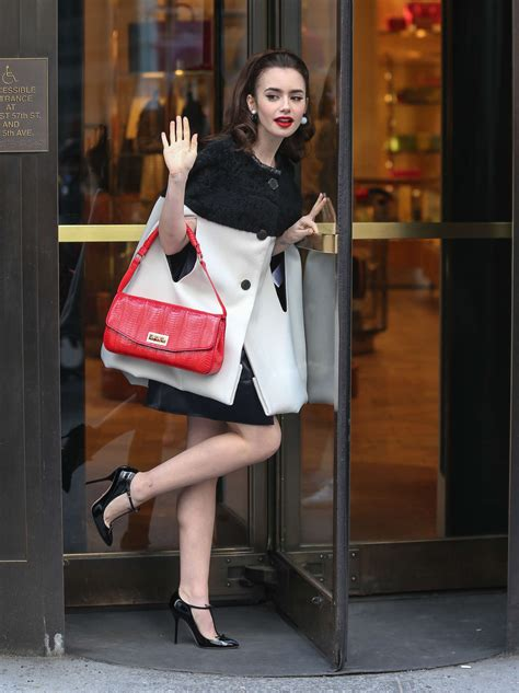 lily collins bergdorf goodman store photoshoot