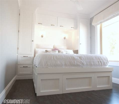 built  wardrobes  platform storage bed sawdustgirlcom
