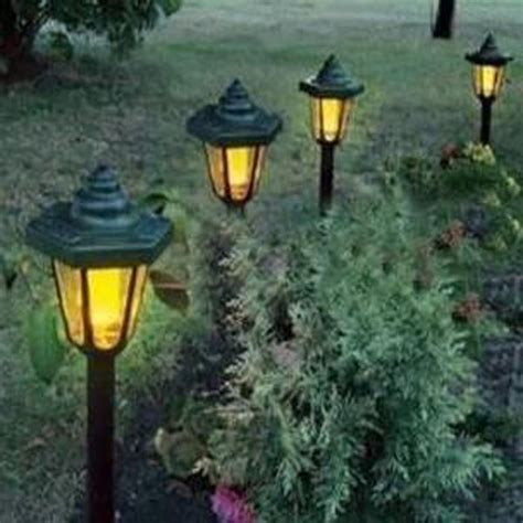 plug in yard lights solar power led outdoor garden pathway plug in lawn light