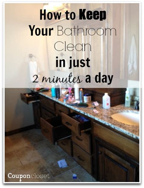 how to keep your bathroom clean in just 2 minutes a day