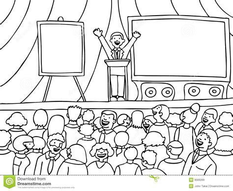 stage clipart black and white versammlung ereignis schwarzweiss vektor abbildung