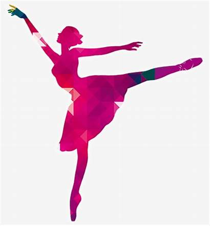 Silhouette Dancer Ballet Colorful Ballerina Bailarina Dancers