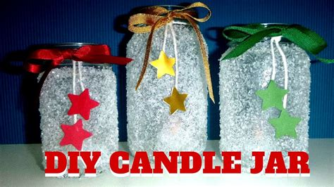 diy candle jar easy christmas crafts  kids youtube