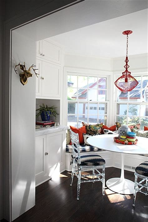 bay window  kitchen eclectic dining room hgtv