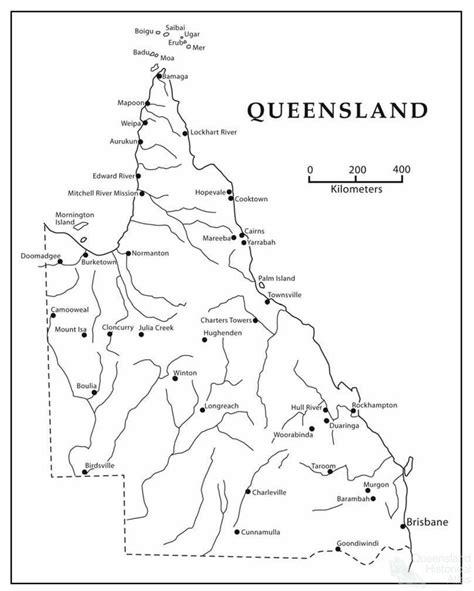 map  queensland indicating aboriginal ration depots
