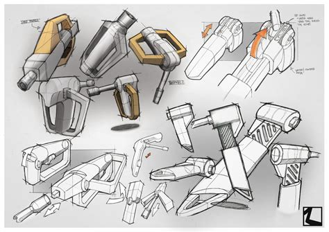 product design sketches sketch and render power tool by irrsyah on deviantart