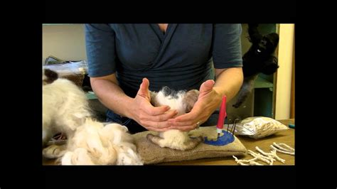 needle felt attaching long fibers sarafina fiber