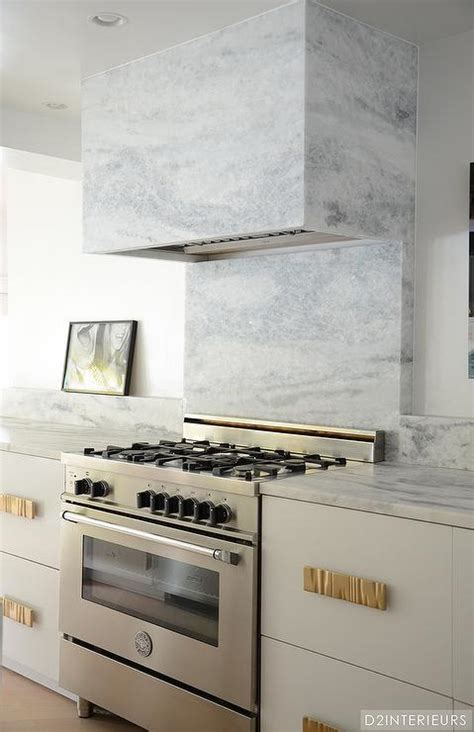 Kitchen With Marble Hood  Contemporary Kitchen
