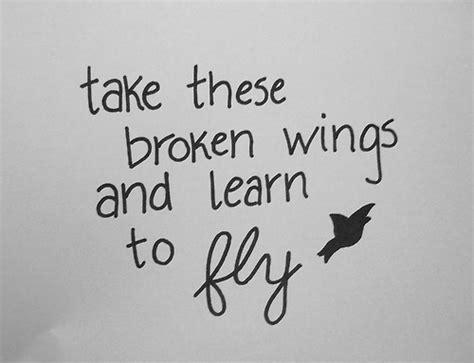 broken wings quote  tattoo tattoos pinterest