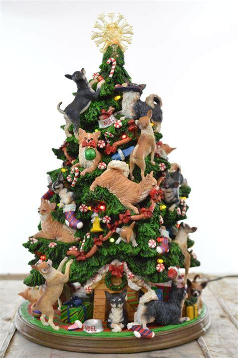danbury mint chihuahua christmas tree  holiday lights