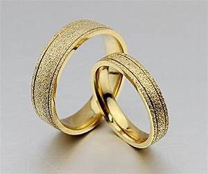 the new titanium steel plated 18k gold wedding rings With dubai gold wedding rings