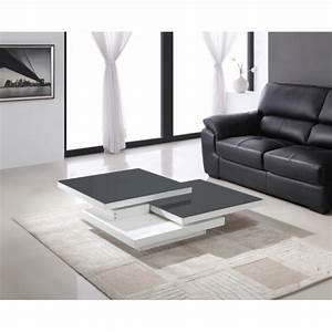Table Grise Et Blanche : table de salon blanche et grise meuble table salon maison boncolac ~ Teatrodelosmanantiales.com Idées de Décoration