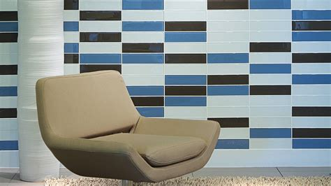 gallery wall mosaic glass tiles reflections in glass tile