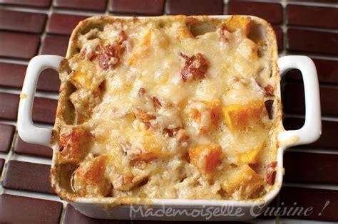 gratin de butternut au curry mademoiselle cuisine