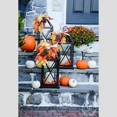 Outdoor Fall Decorating With Lanterns And A Giveaway