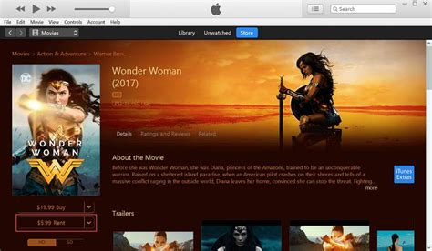 itunes rent movies pay rental movie step