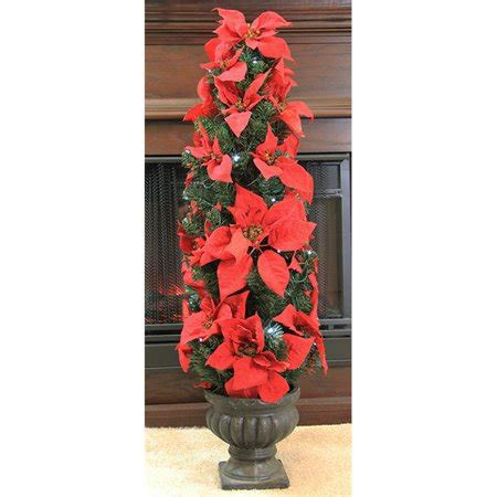 prelit battery operated potted christmas tree northlight 3 ft pre lit battery operated artificial poinsettia potted tree