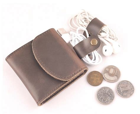 vintage genuine leather short wallet small coin pouch retr