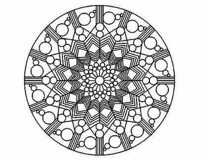 Mandala Flor Colorear Circulos Pintar Cerchio Fiore